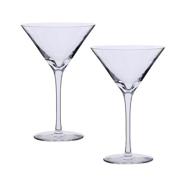 Dartington Bar Excellence Lead Crystal Set Of 2 Martini Glasses