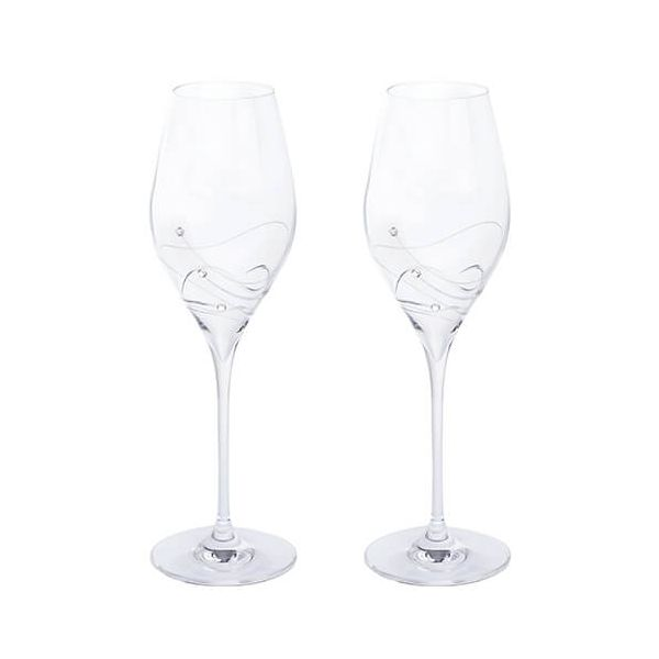 Dartington Glitz Swarovski Elements Set Of 2 Prosecco Glasses