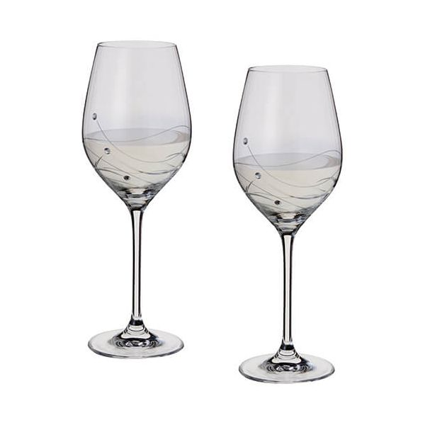 Dartington Glitz Swarovski Elements Set Of 2 Wine Glasses