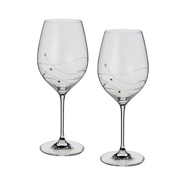 Dartington Glitz Swarovski Elements Set Of 2 Goblets