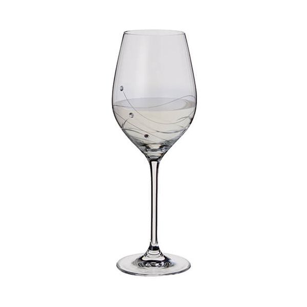 Dartington Glitz Swarovski Elements Wine Glass
