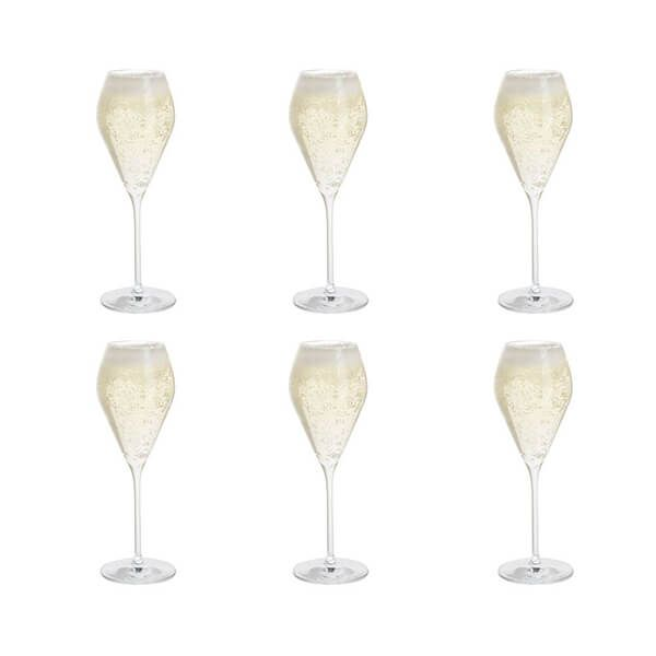 Dartington Six Prosecco Glasses