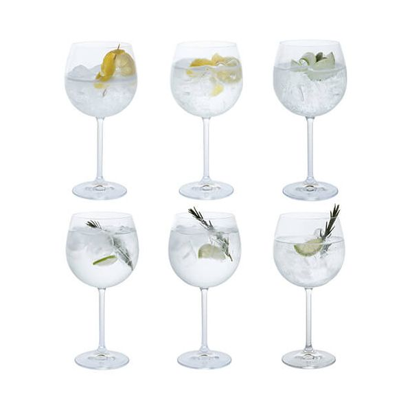 Dartington Party Set of Six Copa Gin Glasses
