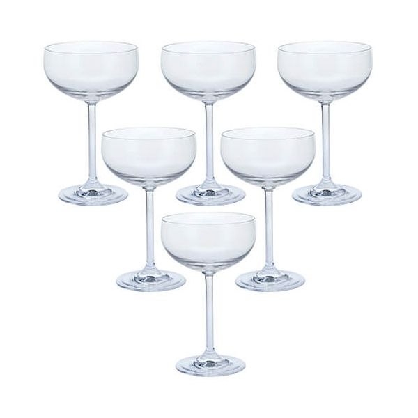 Dartington Party Set of Six Champagne Saucer Glasses