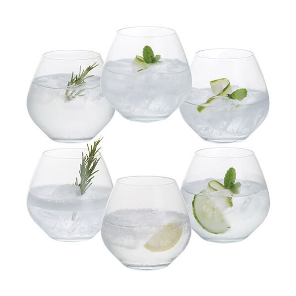 Dartington Party Set of Six Stemless Copa Gin Glasses
