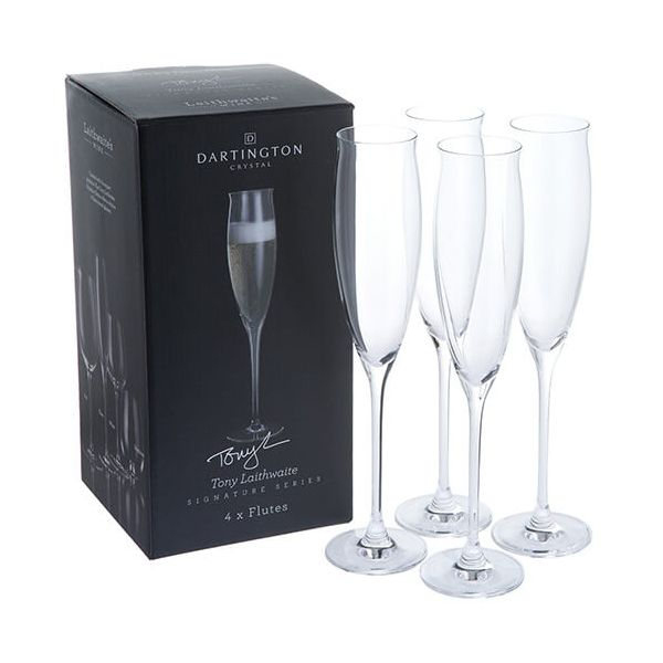 Dartington Tony Laithwaite Signature Collection Set Of 4 Flutes