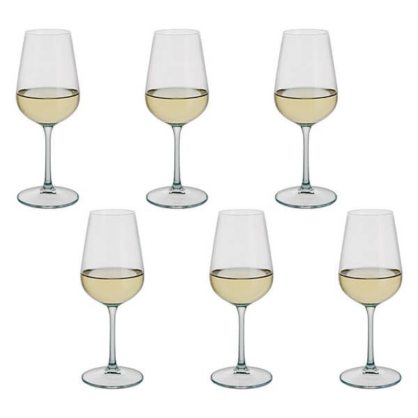 Dartington Select Set Of 6 White Wine Glasses