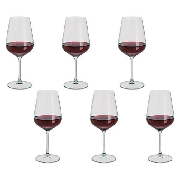 Dartington Select Set Of 6 Red Wine Glasses