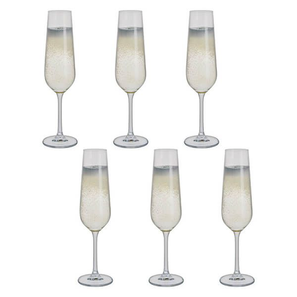 Dartington Select Set Of 6 Flute Glasses