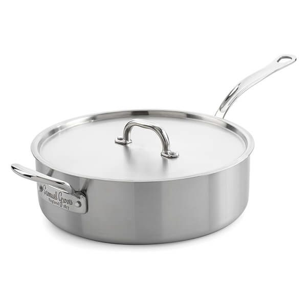 Samuel Groves Classic Stainless Steel Triply 26cm Saute Pan with Lid