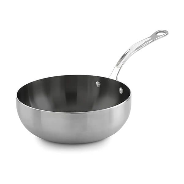 Samuel Groves Classic Non-Stick Stainless Steel Triply 20cm Chefs Pan