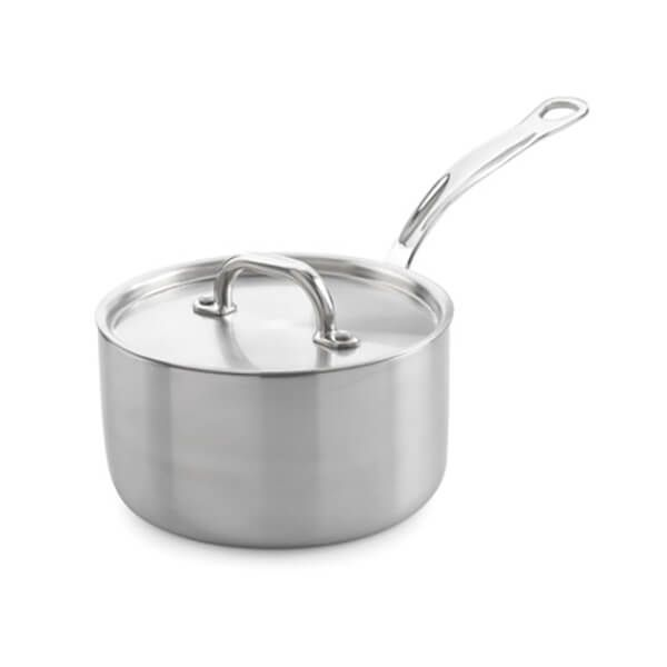 Samuel Groves Classic Non-Stick Stainless Steel Triply 16cm Saucepan with Lid