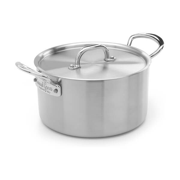 Samuel Groves Classic Stainless Steel Triply 20cm Casserole Pan with Lid