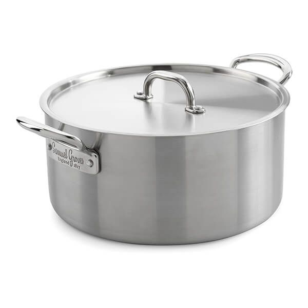 Samuel Groves Classic Stainless Steel Triply 25cm Casserole Pan with Lid