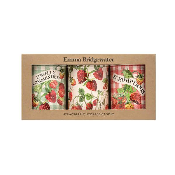 Emma Bridgewater Strawberries Set of 3 Round Caddies