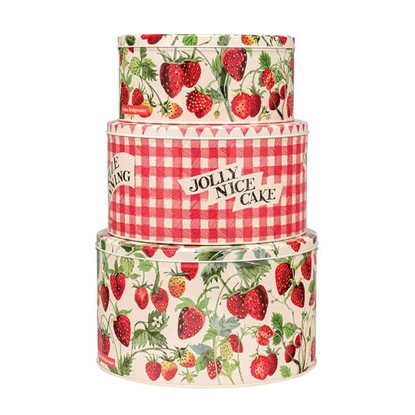 Emma Bridgewater Strawberries Set of 3 Round Cake Tins