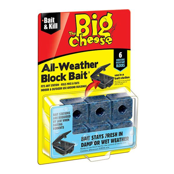 The Big Cheese All-Weather Block Bait Pack Of 6 x 10g