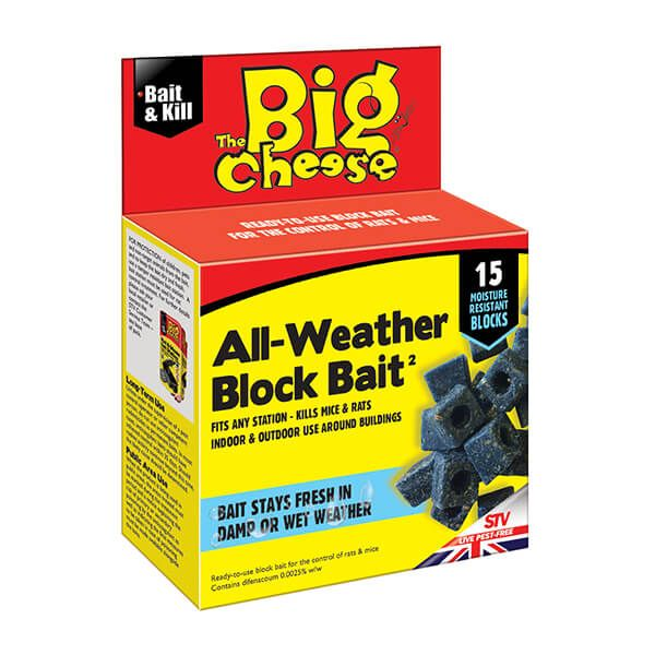 The Big Cheese All-Weather Block Bait Pack Of 15 x 10g