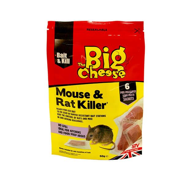 The Big Cheese Mouse & Rat Killer Pack Of 6 Pasta Sachets