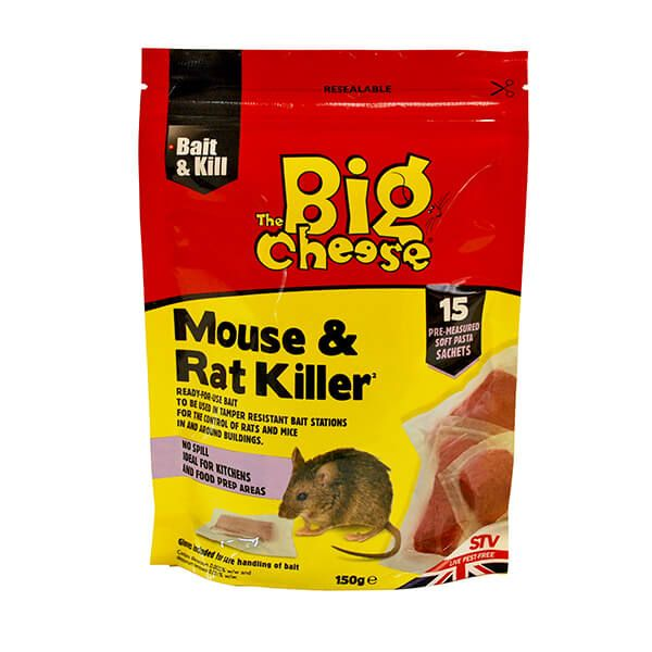 The Big Cheese Mouse & Rat Killer Pack Of 15 Pasta Sachets