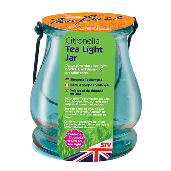 The Buzz Citronella Tea Light Jar