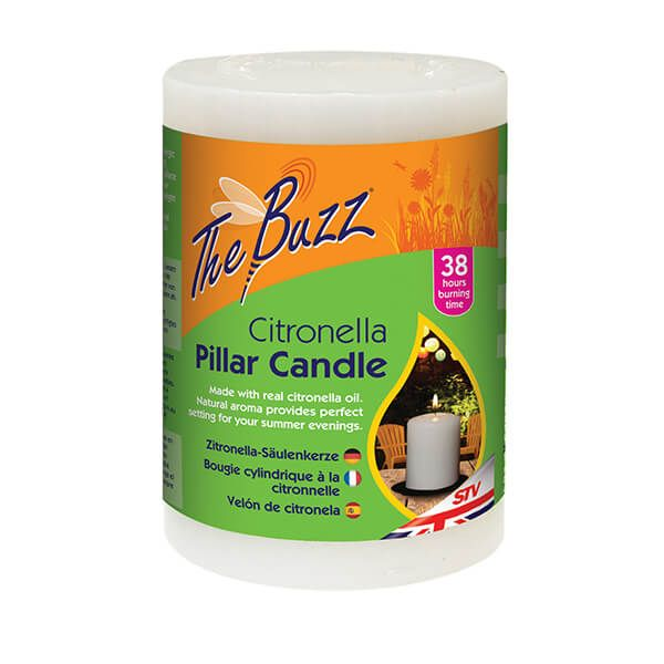 The Buzz Citronella Pillar Candle
