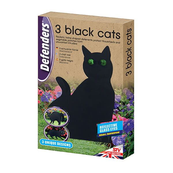 Defenders Three Black Cats Deterrents
