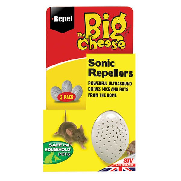The Big Cheese Sonic Repellers Pack Of 3