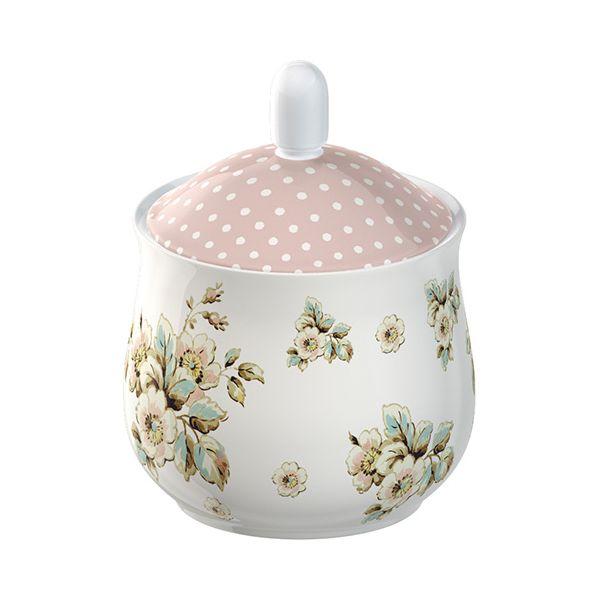 Katie Alice Cottage Flower Sugar Bowl & Creamer