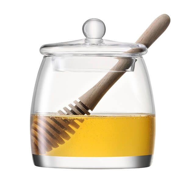 LSA Serve Honey Pot & Oak Dipper Clear