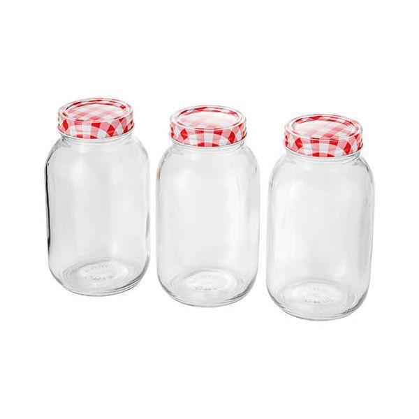 Judge 1 Litre Set Of 3 Preserving Jars