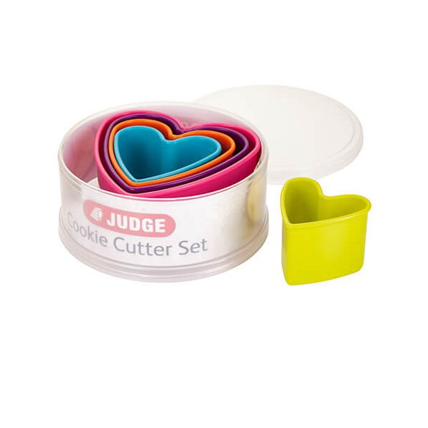 Judge Coloured Hearts Cutters (Set Of Five)