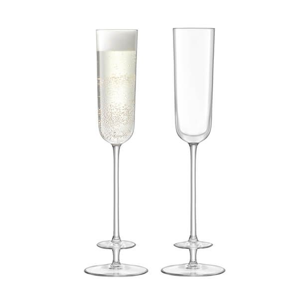 LSA Champagne Theatre Champagne Flute 130ml Tier & Clear Set Of Two