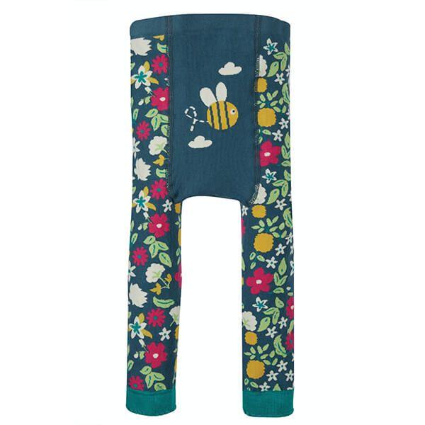 Frugi Organic Flowers/Bee Little Knitted Leggings