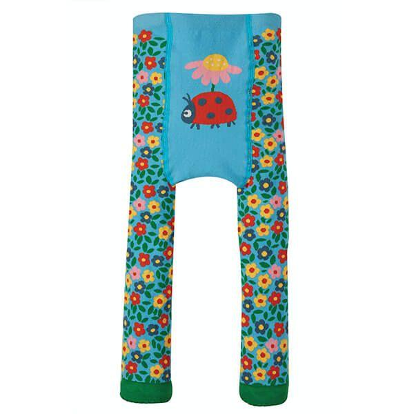 Frugi Organic Flowers/Ladybird Little Knitted Leggings