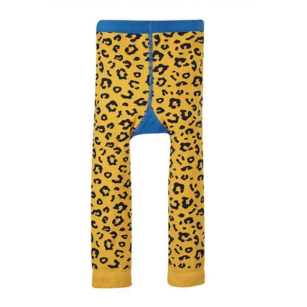 Frugi Organic Leopard Spot/Leopard Little Knitted Leggings