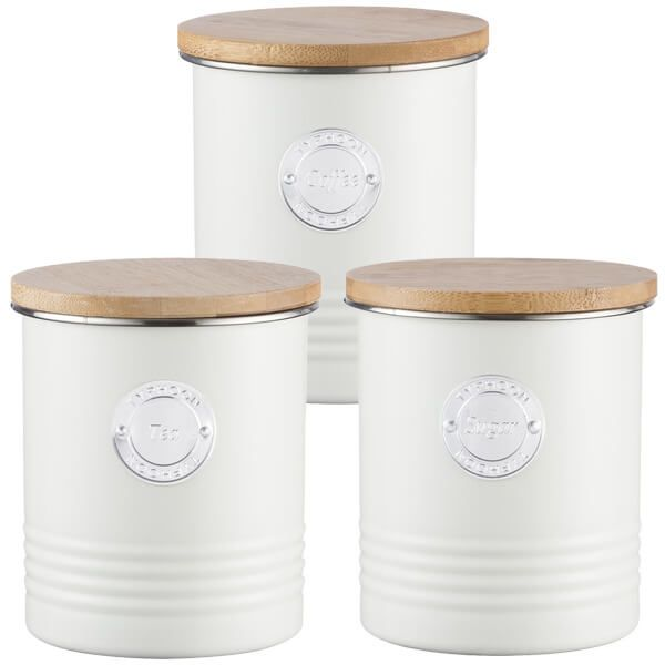 Typhoon Living 3 Piece Storage Set Tea, Coffee & Sugar Cream