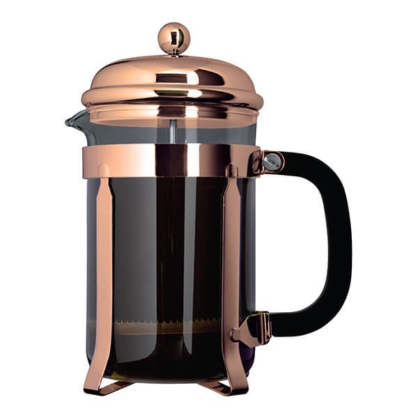 Grunwerg 6 Cup Cafe Ole Cafetiere Classic Copper Finish