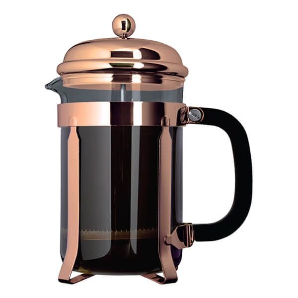 Grunwerg 8 Cup Cafe Ole Cafetiere Classic Copper Finish
