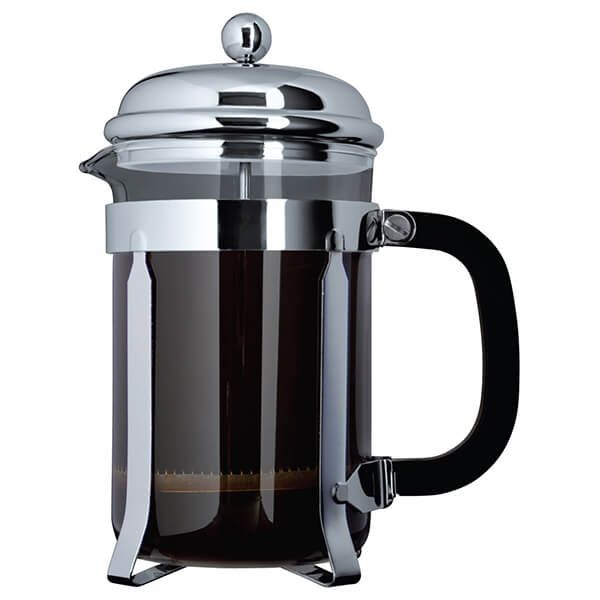 Grunwerg 12 Cup Cafe Ole Cafetiere Classic Chrome Finish