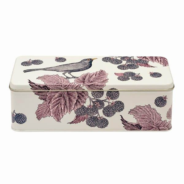 Thornback & Peel Black Bird & Bramble Long Deep Rectangular Tin