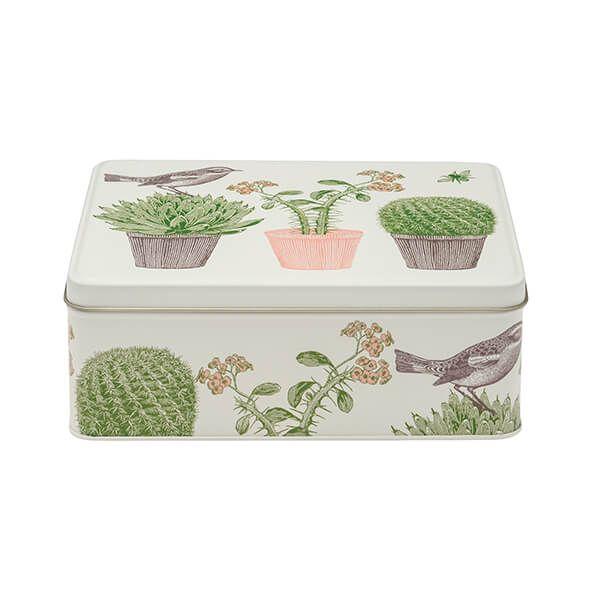 Thornback & Peel Cactus & Bird Deep Rectangular Tin