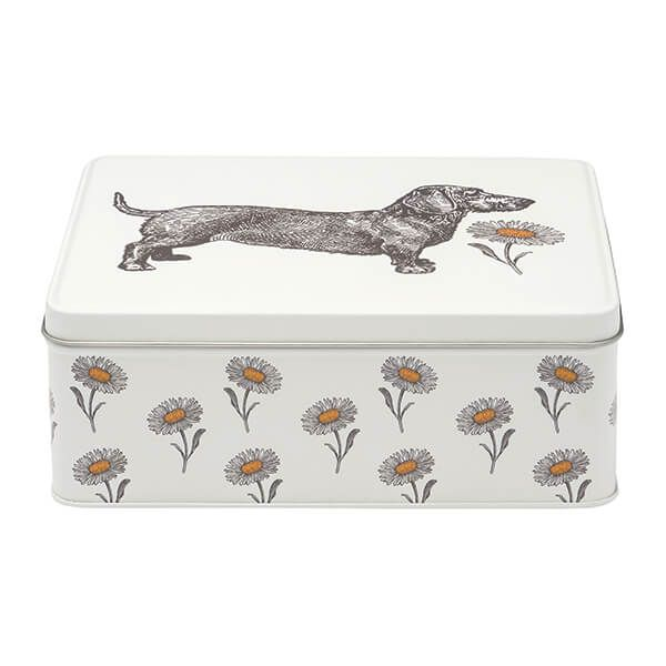 Thornback & Peel Dog & Daisy Deep Rectangular Storage Tin