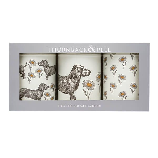 Thornback & Peel Dog & Daisy Set 3 Caddies