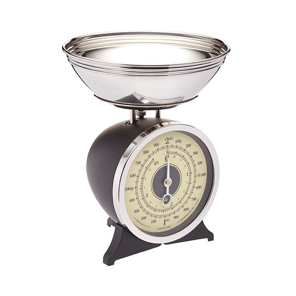 KitchenCraft Black Enamelled Mechanical Kitchen Scale