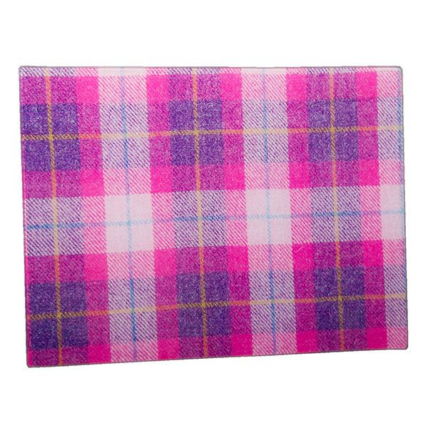 Country Matters Tweed Pink Glass Worktop Saver