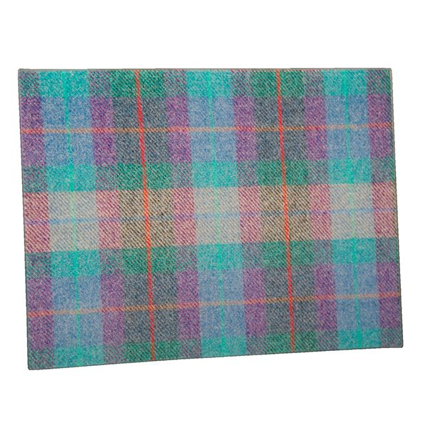 Country Matters Tweed Turquoise Glass Worktop Saver