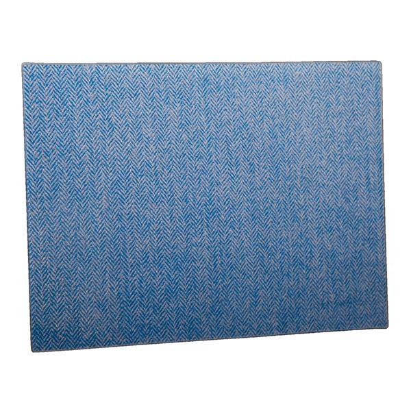 Country Matters Tweed Blue Herringbone Glass Worktop Saver