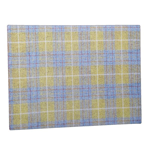 Country Matters Tweed Yellow and Blue Glass Worktop Saver