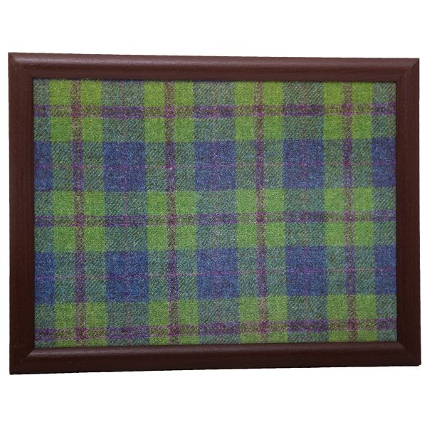 Country Matters Tweed Green and Blue Laptray
